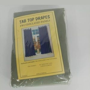 Other - Insulated tab top drapes 2 window curtains